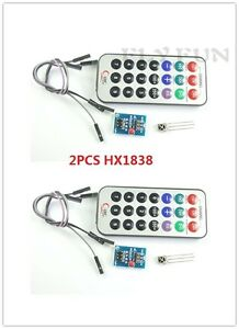 Details about 2PCS HX1838 Infrared IR Remote Control module NEC Code for  Arduino Raspberry Pi