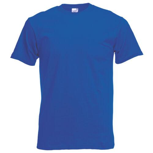 Men/'s Plain Casual//Work Cotton T-shirt S-5XL Fruit of the Loom Original Tee