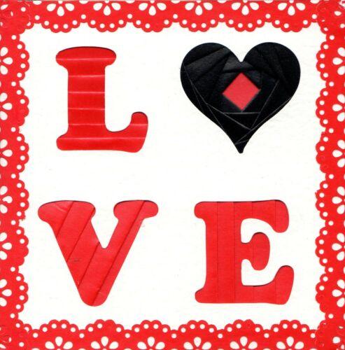 Deecraft Iris Pliante Carte Pack-Mot Love
