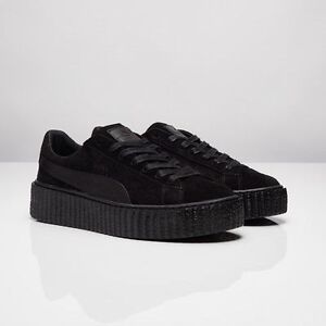 Puma X Rihanna Fenty Suede Creepers Satin Triple Black All 362268 01 ... ee27d3444