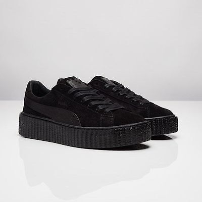 designer fashion f37b6 210fb Puma X Rihanna Fenty Suede Creepers Satin Triple Black All 362268 01 Women  & Men | eBay