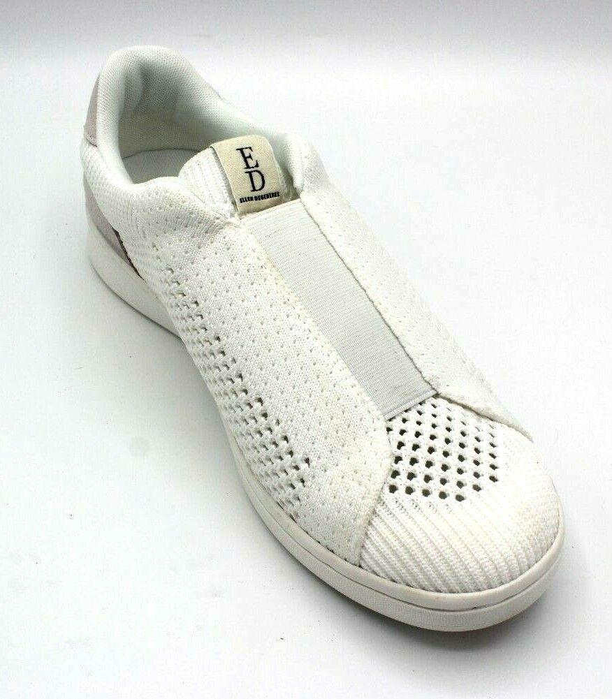 ED Ellen DeGeneres Women's Casbey Slip-On Casual Knit Sneakers White Sie 9M
