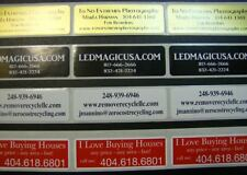 Printed Labels 500 Custom Rectangle 34 X 2 Business Stickers 1 Color Seals
