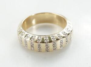Ring-585er-Gold-Achtkant-diamant-14-Kt-Antik-Gelbgold-9-78-Gramm-Gr-61