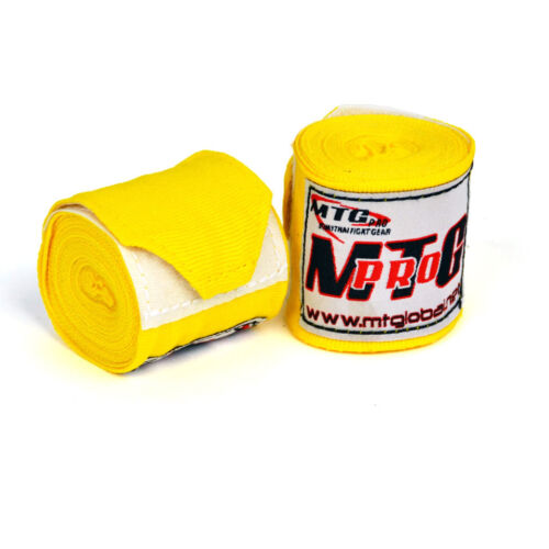 MTG Pro Handwraps 2.5m Elasticated Yellow