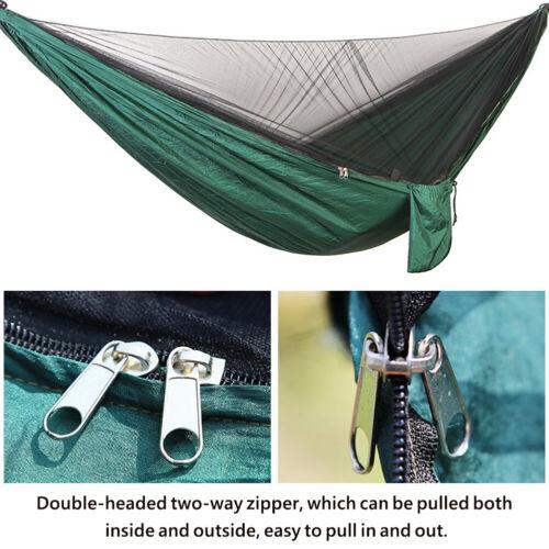 Outdoor Mosquito Net Hammock With Waterproof Sunshine Tent Rain Fly Tent Tarp US