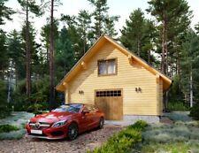 Log Garage Kit Lhbg 80 Eco Friendly Wood Prefab Diy Building Cabin Home Modular