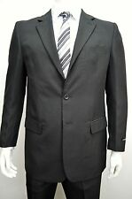 Men's Black 2 Button Classic Fit Polyester Suit Size 50R NEW