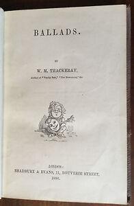 1856-William-Thackeray-Ballads
