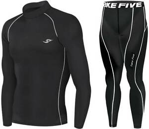 Mens-THERMAL-Baselayer-Skin-Tight-Top-Pants-Set-Winter-Sport-Underwear-S-XXL