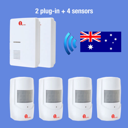 1Byone AU Plug Doorbell Wireless Driveway Alarm System Motion Detector 36 Chimes
