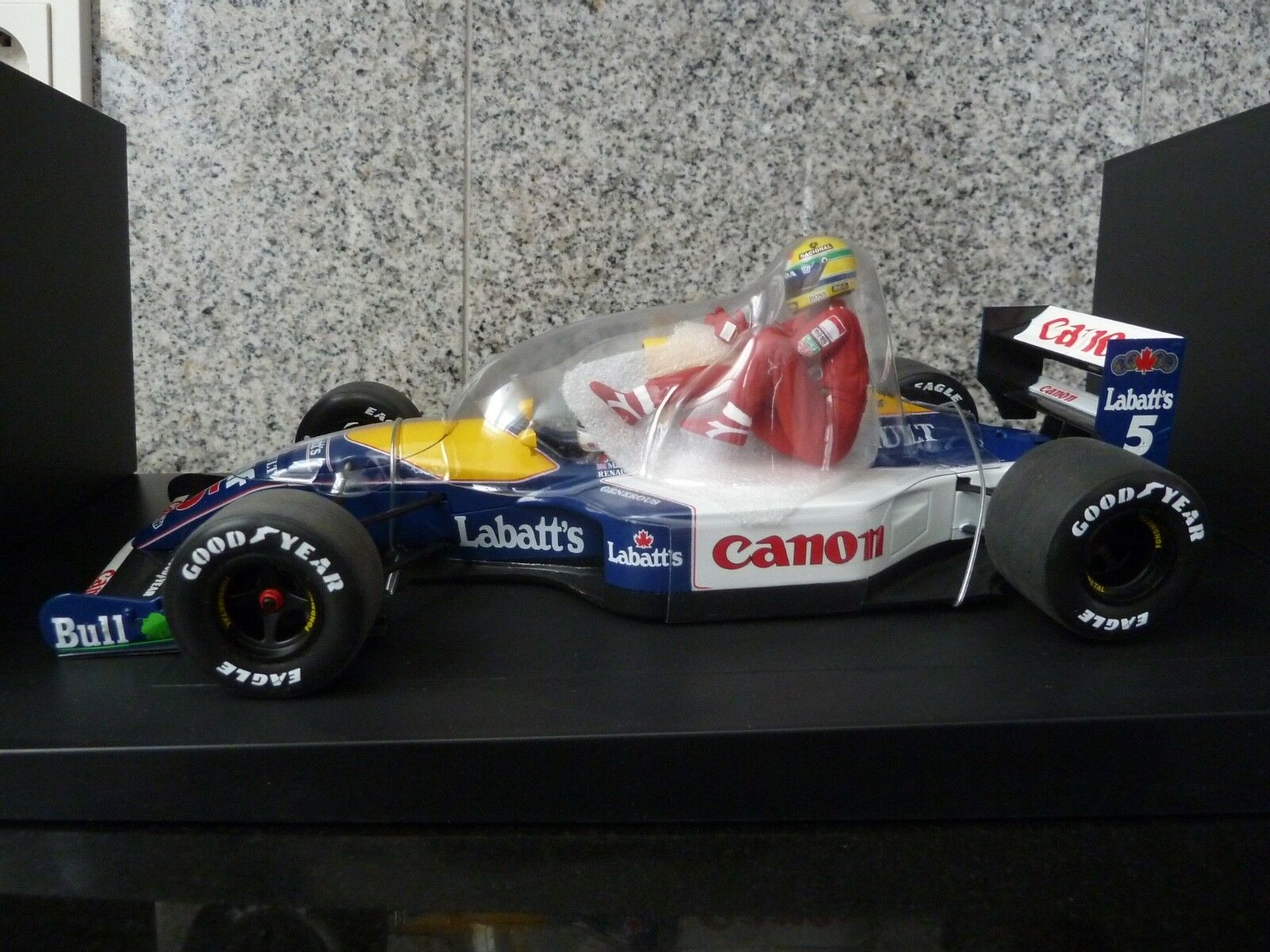 1 18 Minichamps, williams renault fw14, véase Mansell & senna taxi, British GP 1991