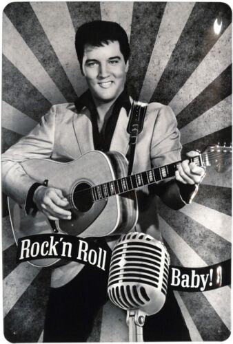 Elvis Presley Nostalgie Metallschild geprägt 20x30 cm Reklame Blechschild 778