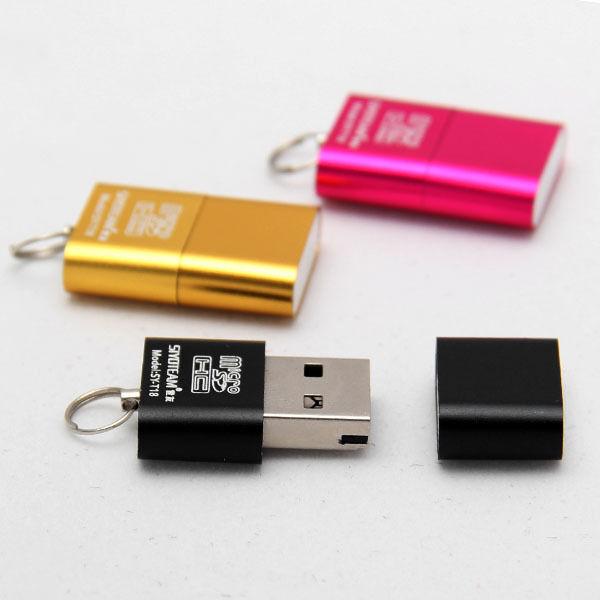 High Speed Mini USB 2.0 Micro SD TF T-Flash Memory Card Reader Adapter