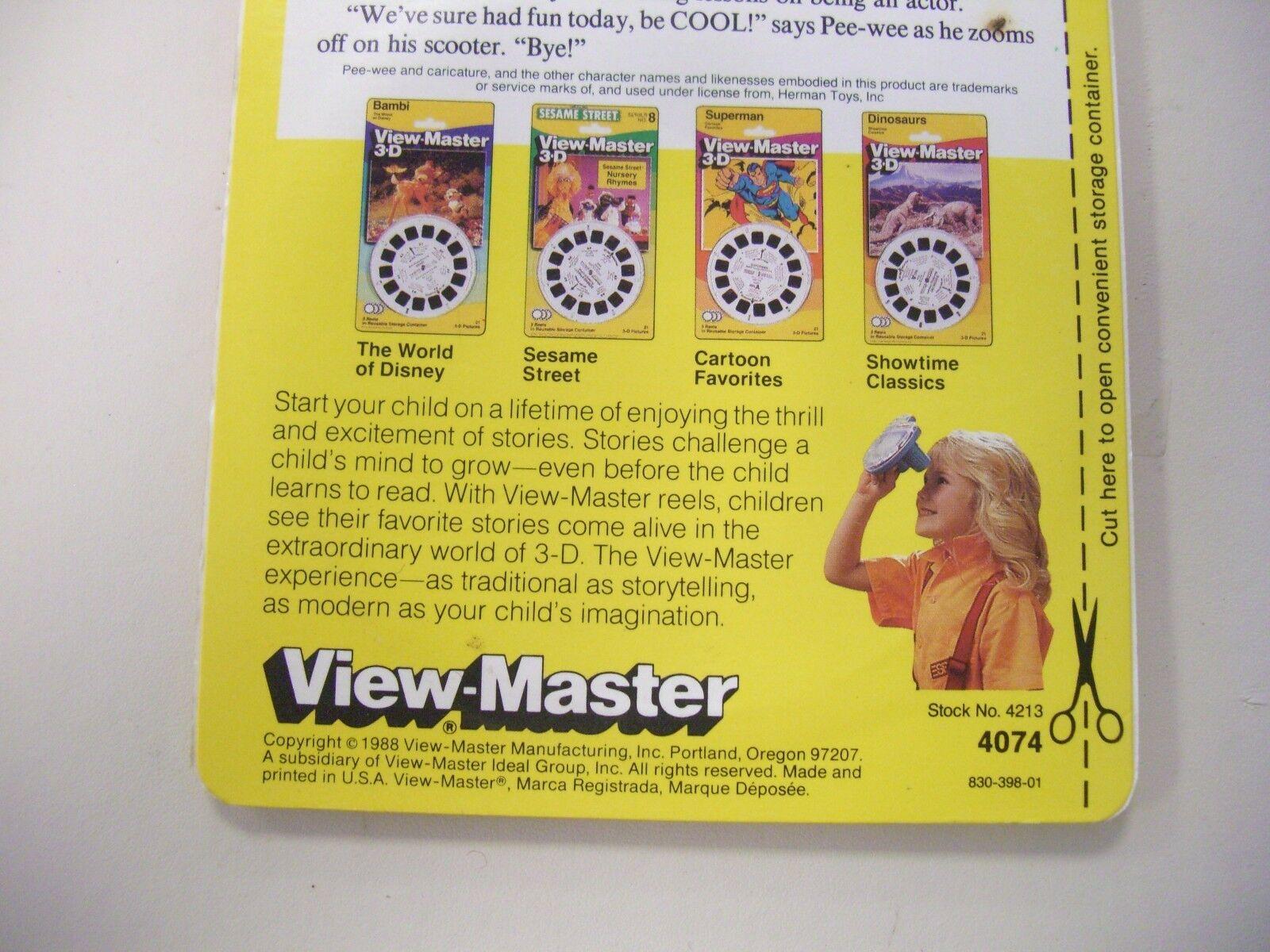 1988 Herman Toys Pee-wee's Playhouse View-Master 3d Reels in
