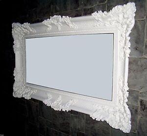 Specchio parete XXL bianco 96x57 antico barocco shabby chic per ...