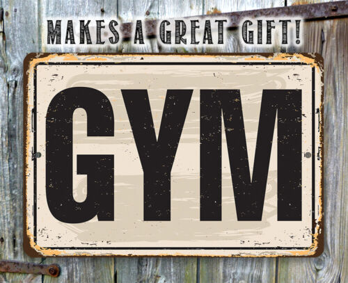 Makes a Great Gym Decor and Gift to Gym Goers Gym Metal Sign