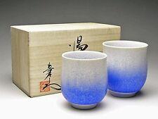 YUNOMI Japanese tea cup ARITA porcelain yaki SHIN-EMON AIZEN SUITEKI w/box
