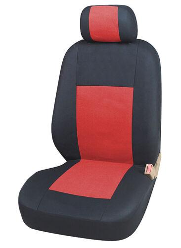 2+1 Sitzbezüge Schonbezüge Rot Schwarz für Hyundai Iveco Kia Mazda Mitsubishi