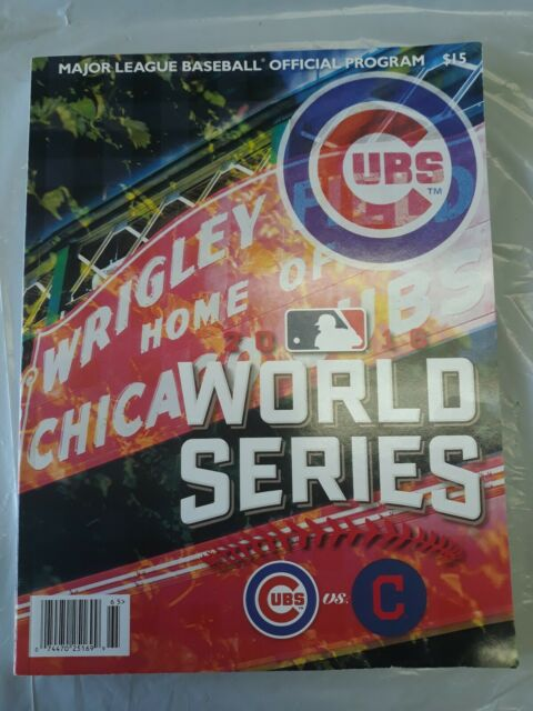 cubs indians vs wrigley mlb chicago field cleveland program series