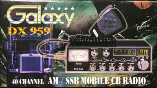 Galaxy DX-959 40 Channel AM SSB Mobile CB Radio with Blue LED Display Black NEW