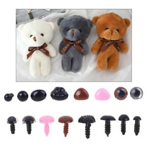 Durable Plastic Lovely Doll Teddy Puppet Triangle Noses Hand DIY Craft Making