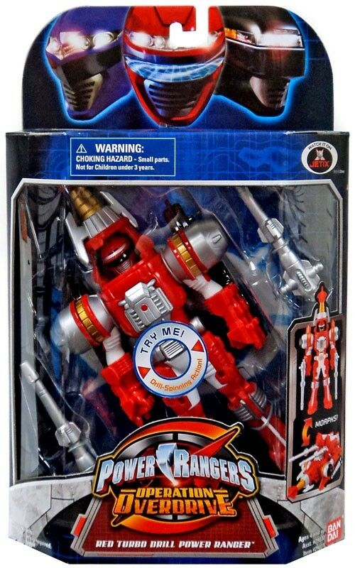 Power Rangers Operation Overdrive rosso Turbo Drill Power Ranger Action Figure