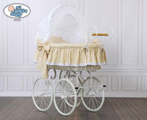 Retro Stubenwagen My Sweet Baby Ersatzbezug Bezug 4Tlg Ausstattung Bettwäsche f