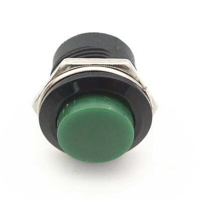 Round Momentary Push button Switch 16MM 6A//125VAC 3A//250V Green 50pcs OFF ON