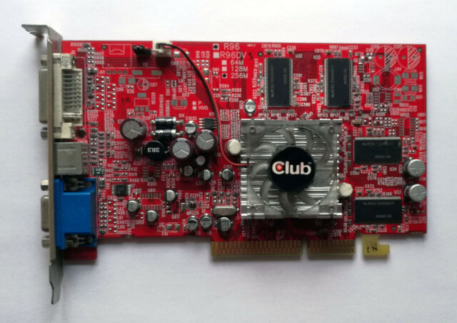 Club3D ATi Radeon 9550 256MB AGP VGA Card