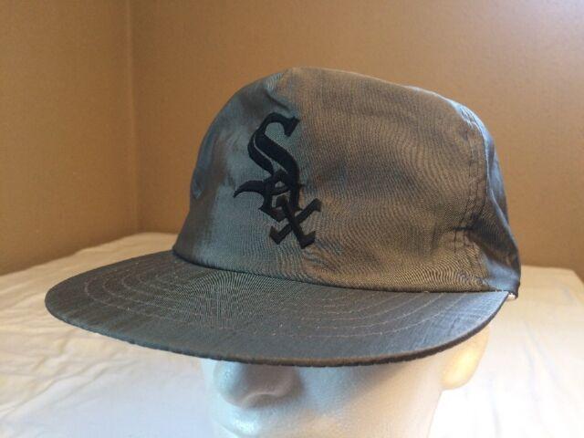 Vintage Rare 90's Chicago White Sox Cap Snapback Gray Trucker Hat Baseball MLB