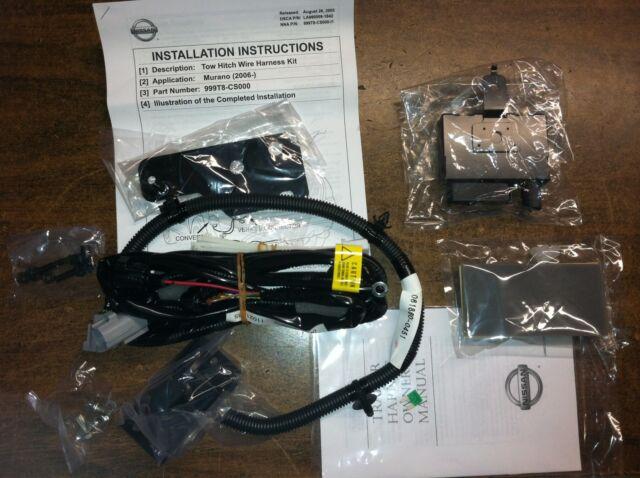2006 2008 nissan murano trailer tow wiring harness 999 t 8 cs 000 ...  ebay
