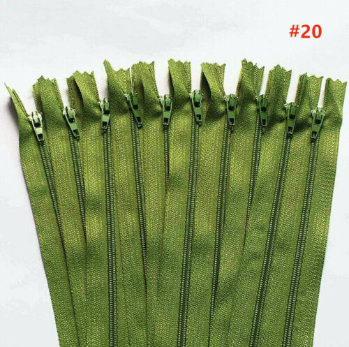 20-100 pcs Nylon Coil Zippers Tailor Sewer Craft(12-16 Inch)20 colour(U PICK)@@