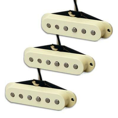 New Lindy Fralin Woodstock 69 Strat Guitar Pickup Set Parchment Baseplate USA