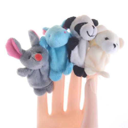 Preschool Kids Finger Puppets Plush Dolls Family Story Children Baby Game PHK