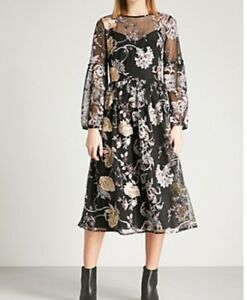 12 Bnwt Robe Taille Robe Brodᄄᆭe Pourpre 53A4qRLj
