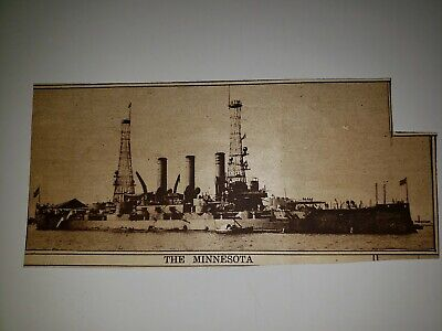 1396 Mine Sweeper North Sea Barrage Real Photo WWI World War I USN Navy USS No