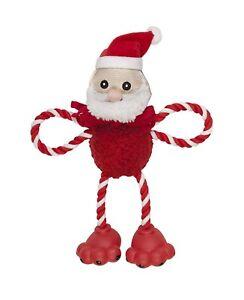 1- Chomper Vacances Big Feet Santa Jouet Pour Chien Polaire Corde Vinyle. à Usa Doux Et Doux