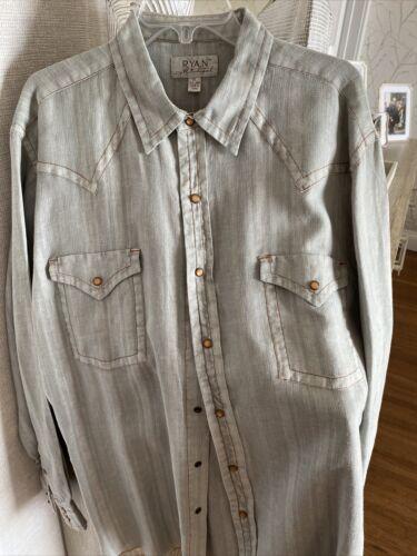 Ryan Michael Shirt Mens XL - Linen