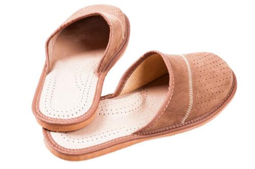 in uomo pelle 6 11 8 Ciabatte Pantofole 9 taglia 12 7 10 infradito1 Sandali scamosciata marrone q15wndR