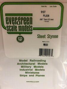 Evergreen-EV9107-Polystyrol-Weiss-20x53cm-Spess-2mm-2pz-Modell