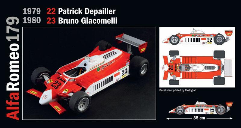 Alfa Romeo 179 179C  22 23 Andretti Depailler Giacomelli KIT ITALERI 1 12 IT4704