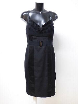 schwarzes wickelkleid gr.42 edel