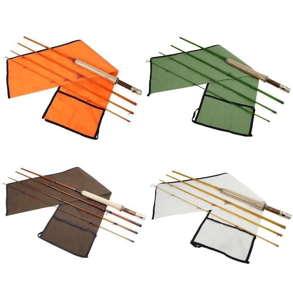 Aventik medium action Super Fiber Glass transparent colors Fly Fishing Rod 4pc