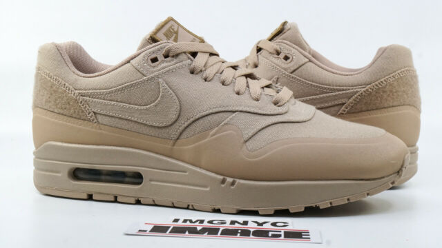 NIKE AIR MAX 1 V SP PATCH USED SIZE 9 USA SAND KHAKI BROWN 704901 200