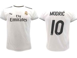 Maglia-Ufficiale-Real-Madrid-2019-Luka-Modric-10-Home-pallone-d-039-oro-Milan-Juve