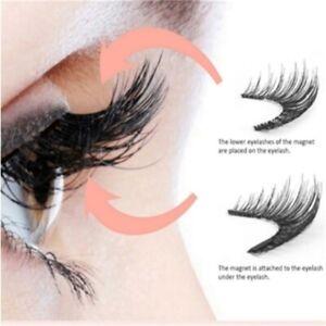 fe449a9206c Image is loading 4PCS-Double-Magnetic-3D-Eyelashes-Handmade-Reusable-False-
