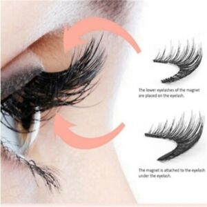 4PCS-Double-Magnetic-3D-Eyelashes-Handmade-Reusable-False-Long-Magnet-Eye-Lashes