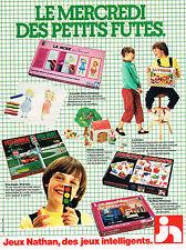PUBLICITE ADVERTISING  1980   NATHAN  jeux jouets