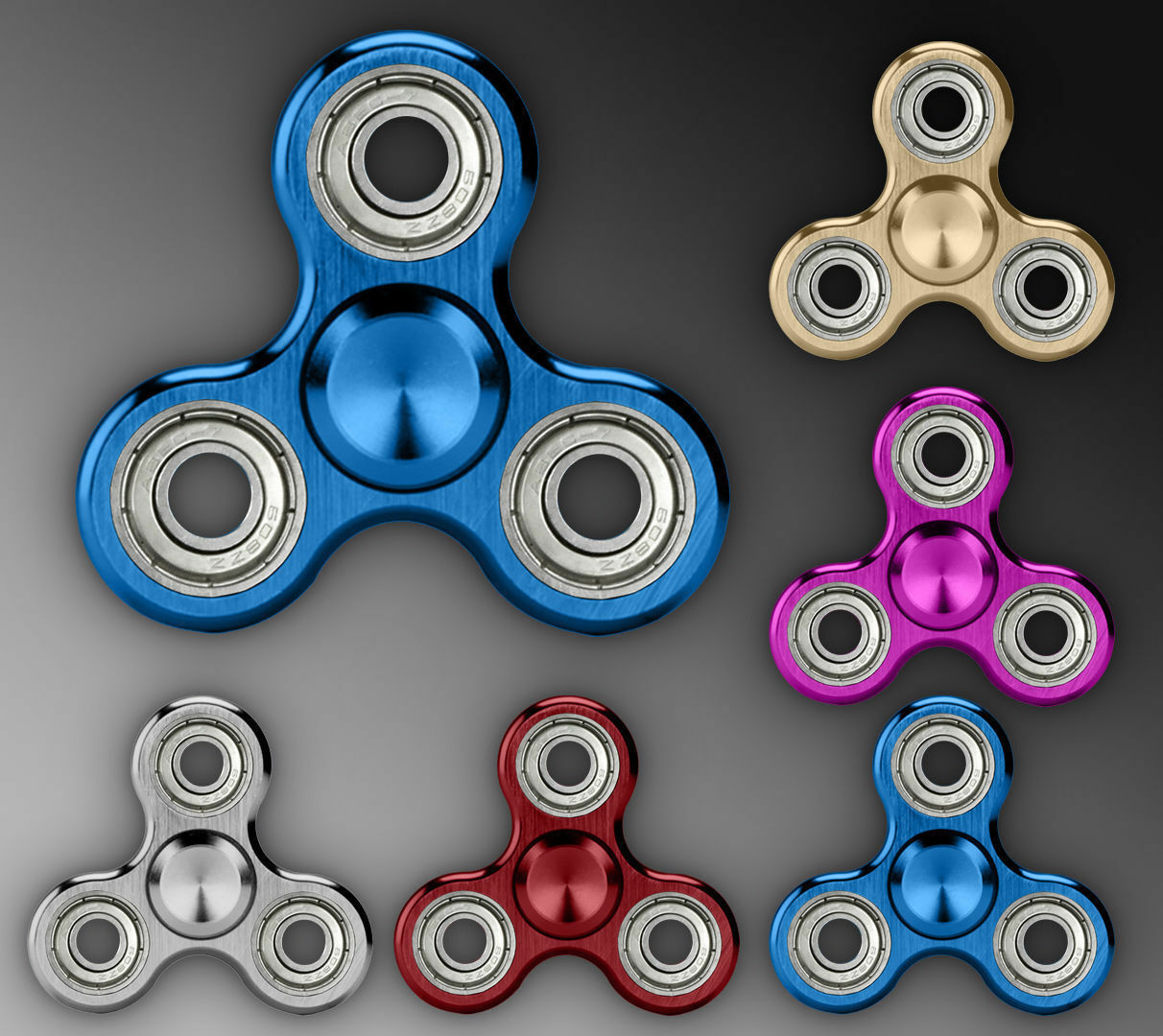 Bangers doigt Spinner main Focus Ultimate SPIN ACIER EDC portant stress Toy Circ
